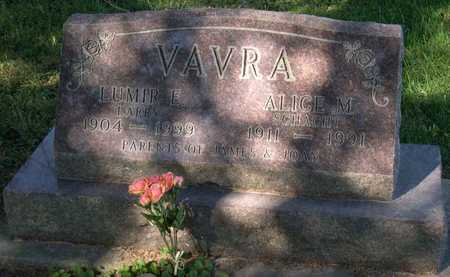 VAVRA, ALICE M. - Linn County, Iowa | ALICE M. VAVRA