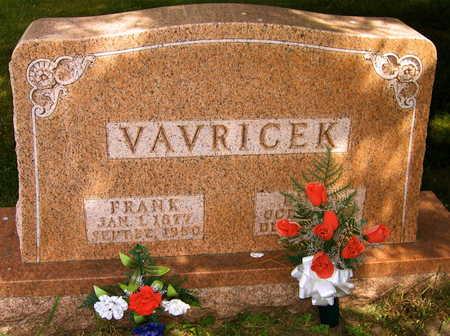 VAVRICEK, FRANK - Linn County, Iowa | FRANK VAVRICEK