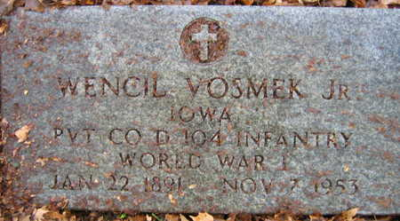 VOSMEK, WENCIL, JR. - Linn County, Iowa | WENCIL, JR. VOSMEK