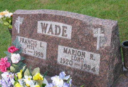 LONG WADE, MARION R. - Linn County, Iowa | MARION R. LONG WADE