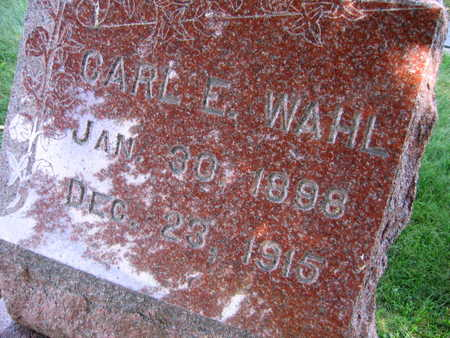 WAHL, CARL E. - Linn County, Iowa | CARL E. WAHL