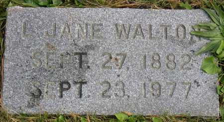 WALTON, L. JANE - Linn County, Iowa | L. JANE WALTON
