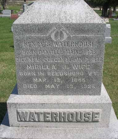 WATERHOUSE, MARILLA J. - Linn County, Iowa | MARILLA J. WATERHOUSE