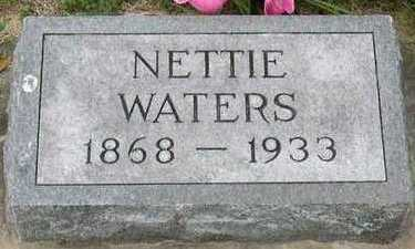 WATERS, NETTIE - Linn County, Iowa | NETTIE WATERS