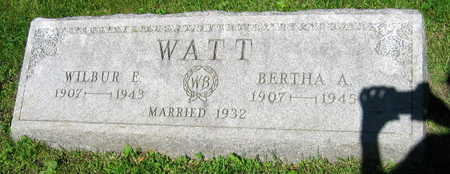 WATT, BERTHA A. - Linn County, Iowa | BERTHA A. WATT