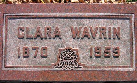 WAVRIN, CLARA - Linn County, Iowa | CLARA WAVRIN