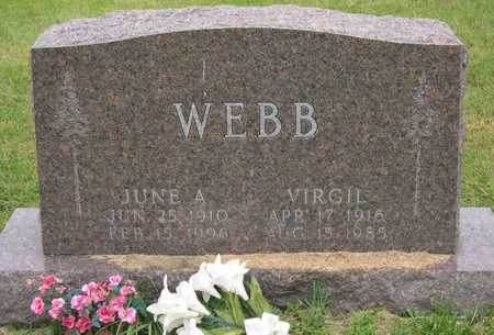 WEBB, JUNE A. - Linn County, Iowa | JUNE A. WEBB
