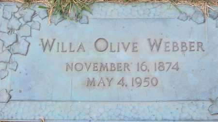 WEBBER, WILLA OLIVE - Linn County, Iowa | WILLA OLIVE WEBBER