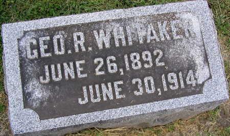 WHITAKER, GEORGE R. - Linn County, Iowa   GEORGE R. WHITAKER