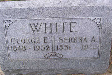 WHITE, GEORGE E. - Linn County, Iowa | GEORGE E. WHITE