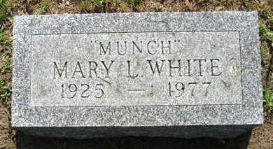 WHITE, MARY L. - Linn County, Iowa   MARY L. WHITE