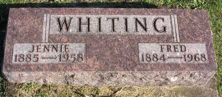 WHITING, JENNIE - Linn County, Iowa | JENNIE WHITING