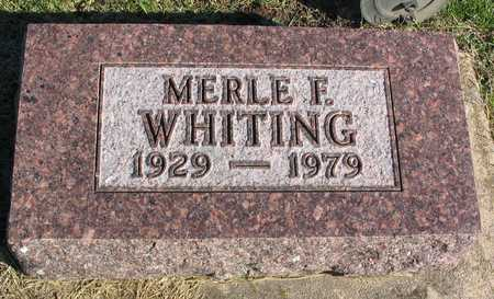 WHITING, MERLE F. - Linn County, Iowa | MERLE F. WHITING