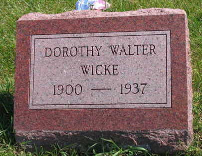 WICKE, DOROTHY - Linn County, Iowa | DOROTHY WICKE