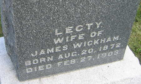 WICKHAM, LECTY - Linn County, Iowa | LECTY WICKHAM