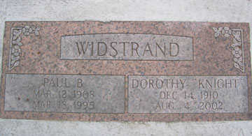 KNIGHT WIDSTRAND, DOROTHY - Linn County, Iowa | DOROTHY KNIGHT WIDSTRAND