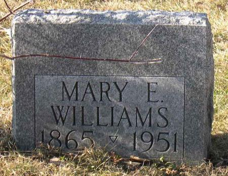 WILLIAMS, MARY E. - Linn County, Iowa | MARY E. WILLIAMS