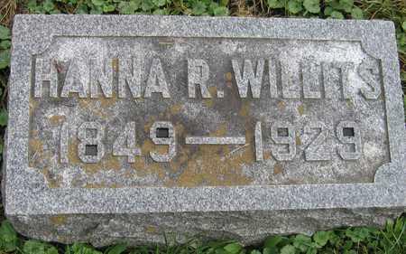 WILLITS, HANNA R. - Linn County, Iowa   HANNA R. WILLITS