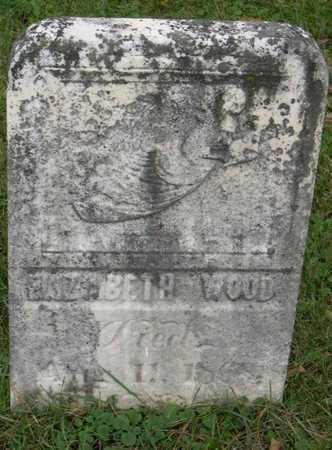 WOOD, ELIZABETH - Linn County, Iowa   ELIZABETH WOOD