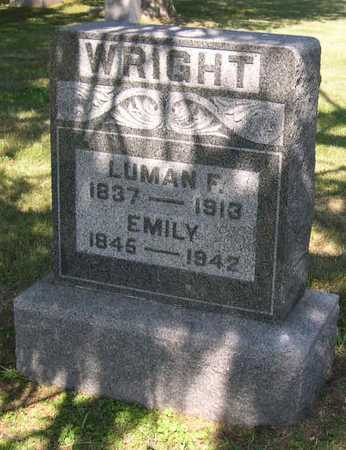 WRIGHT, LUMAN F. - Linn County, Iowa | LUMAN F. WRIGHT