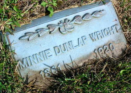 DUNLAP WRIGHT, MINNIE - Linn County, Iowa | MINNIE DUNLAP WRIGHT