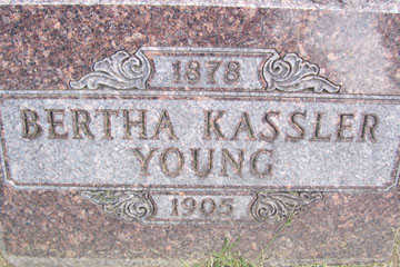 KASSLER YOUNG, BERTHA - Linn County, Iowa | BERTHA KASSLER YOUNG