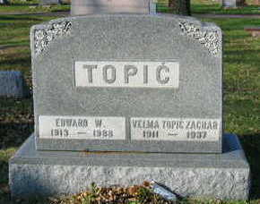 TOPIC ZACHER, VELMA - Linn County, Iowa | VELMA TOPIC ZACHER