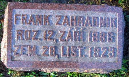 ZAHRADNIK, FRANK - Linn County, Iowa | FRANK ZAHRADNIK