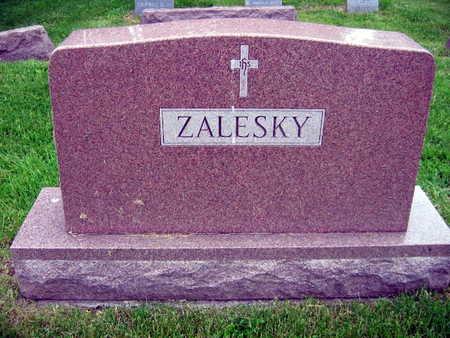 ZALESKY, FAMILY STONE - Linn County, Iowa | FAMILY STONE ZALESKY