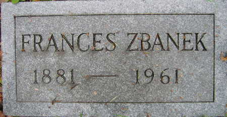 ZBANEK, FRANCES - Linn County, Iowa | FRANCES ZBANEK