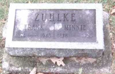 ZUHLKE, MINNIE - Linn County, Iowa | MINNIE ZUHLKE