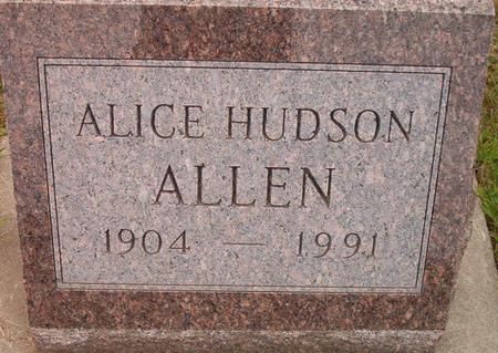 ALLEN, ALICE - Louisa County, Iowa | ALICE ALLEN