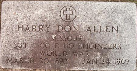 ALLEN, HARRY DON - Louisa County, Iowa | HARRY DON ALLEN