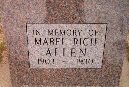 RICH ALLEN, MABEL - Louisa County, Iowa | MABEL RICH ALLEN
