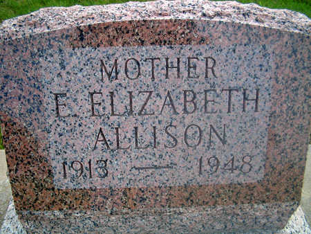 ALLISON, E. ELIZABETH - Louisa County, Iowa | E. ELIZABETH ALLISON