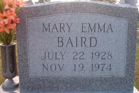 BAIRD, MARY EMMA - Louisa County, Iowa | MARY EMMA BAIRD