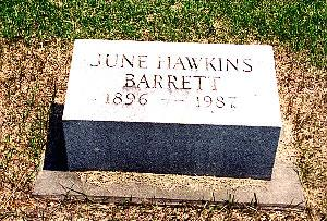 HAWKINS BARRETT, JUNE - Louisa County, Iowa | JUNE HAWKINS BARRETT