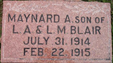 BLAIR, MAYNARD A. - Louisa County, Iowa | MAYNARD A. BLAIR