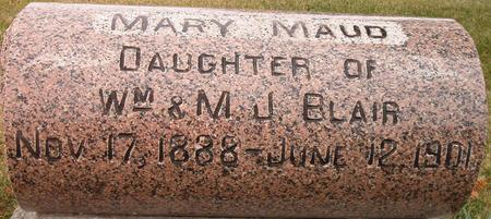 BLAIR, MARY MAUD - Louisa County, Iowa | MARY MAUD BLAIR