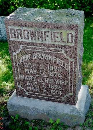 BROWN BROWNFIELD, MARY J. - Louisa County, Iowa | MARY J. BROWN BROWNFIELD
