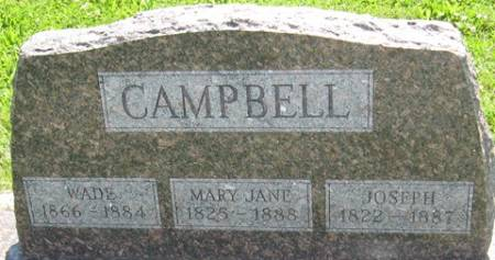 KINKEAD CAMPBELL, MARY JANE - Louisa County, Iowa | MARY JANE KINKEAD CAMPBELL