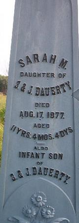 DAUERTY, INFANT SON - Louisa County, Iowa | INFANT SON DAUERTY