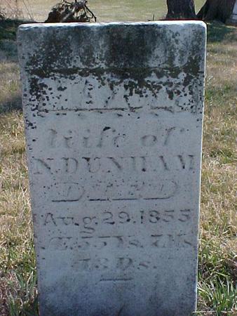 DUNHAM, MARY - Louisa County, Iowa | MARY DUNHAM