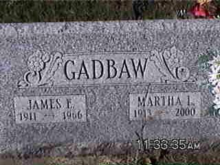 GADBAW, MARTHA - Louisa County, Iowa | MARTHA GADBAW