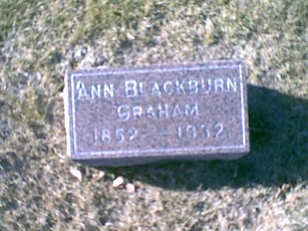 BLACKBURN GRAHAM, ANN - Louisa County, Iowa | ANN BLACKBURN GRAHAM