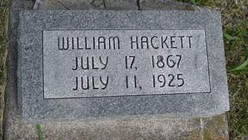 HACKETT, WILLIAM - Louisa County, Iowa | WILLIAM HACKETT