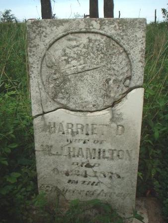 HAMILTON, HARRIET D. - Louisa County, Iowa | HARRIET D. HAMILTON