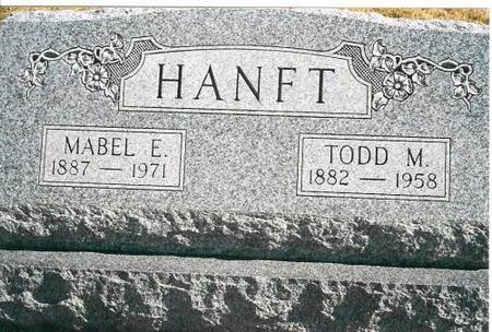 HANFT, MABEL E. & TODD M. - Louisa County, Iowa | MABEL E. & TODD M. HANFT
