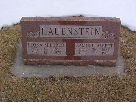 HAUENSTEIN, SAMUEL ALBERT - Louisa County, Iowa | SAMUEL ALBERT HAUENSTEIN
