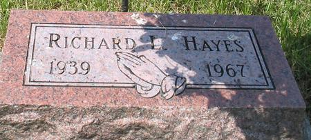 HAYES, RICHARD L. - Louisa County, Iowa | RICHARD L. HAYES